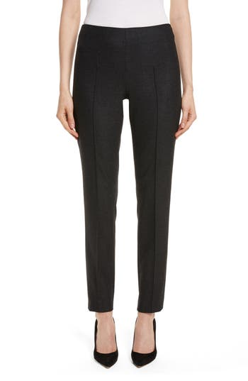 Women's Akris Melissa Stretch Wool Flannel Pants