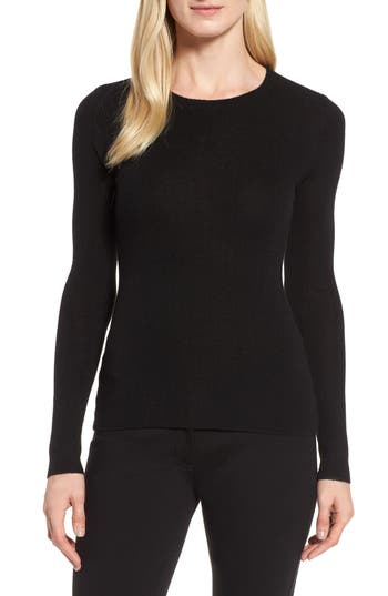 Women's Nordstrom Signature Ribbed Cashmere Sweater