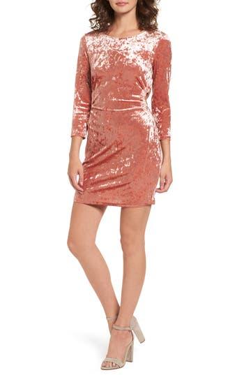 Everly Cutout Velvet Dress, Pink