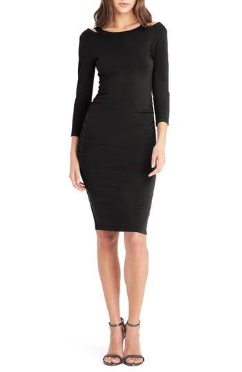 Michael Stars Strap Back Body-Con Dress, Black