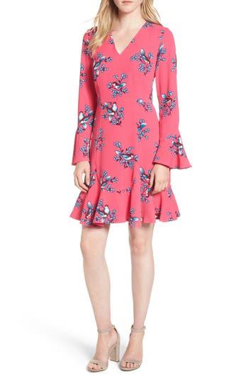 Women's Draper James Magnolia Mockingbird Bell Sleeve A-Line Dress, Size 4 - Pink