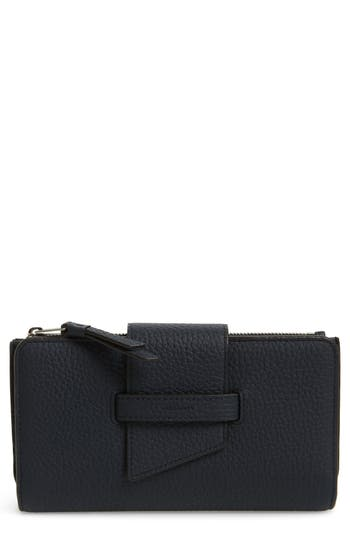 Allsaints Ray Leather Wallet - Blue
