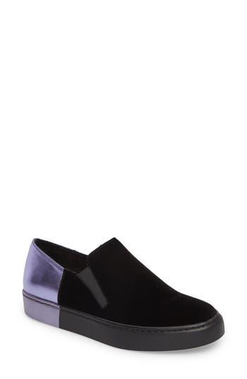 Free People Varsity Slip-On Sneaker, Black