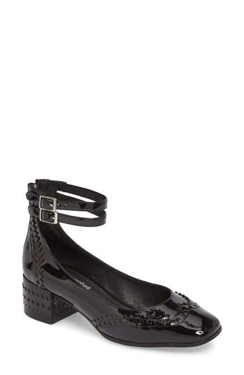 Jeffrey Campbell Dumast Wingtip Ankle Strap Pump, Black