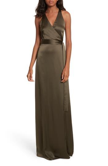 Diane Von Furstenberg Wrap Gown, Purple
