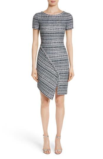 St. John Collection Metallic Jacquard Dress, Grey
