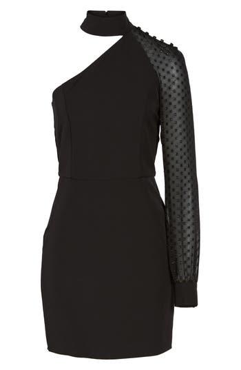Layne One-Shoulder Dress, Black