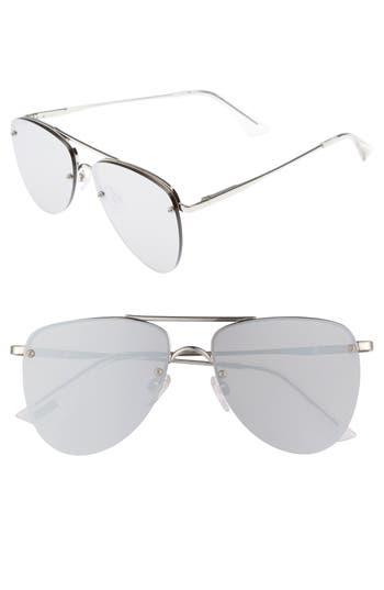 Le Specs The Prince 57Mm Aviator Sunglasses - Silver