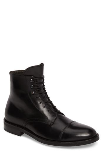To Boot New York Henri Cap Toe Boot- Black