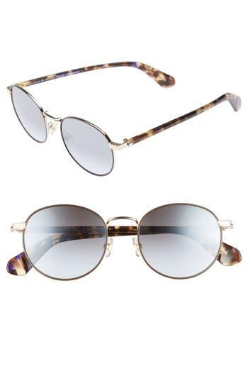 Women's Kate Spade New York Adelais 50Mm Round Sunglasses -