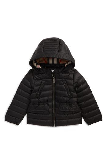 Toddler Girl's Burberry Mini Bronwyn Quilted Down Jacket