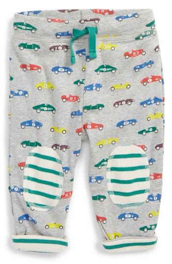 Toddler Boy's Mini Boden Knee Patch Reversible Pants, Size 0-3M - Grey