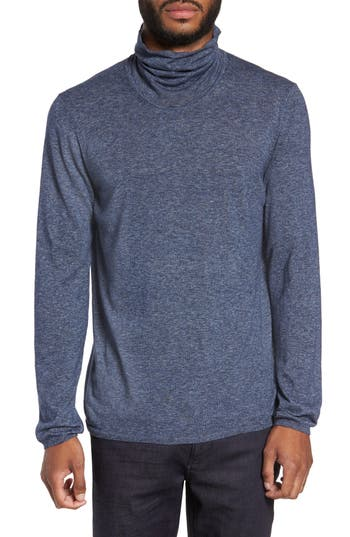 Zachary Prell Hess Wool Turtleneck Sweater, Blue
