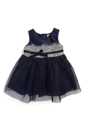 Infant Girl's Nanette Lepore Shimmer Lace & Tulle Dress