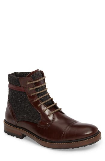 Ted Baker London Ruulen Cap Toe Boot, Brown