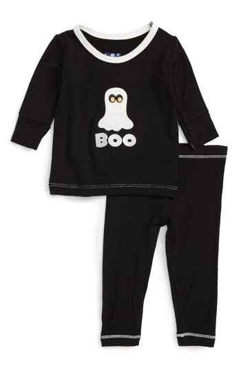Infant Boy's Kickee Pants Ghost Fitted Two-Piece Pajamas