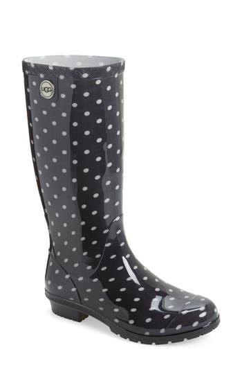 Ugg Shaye Polka Dot Rain Boot, Black