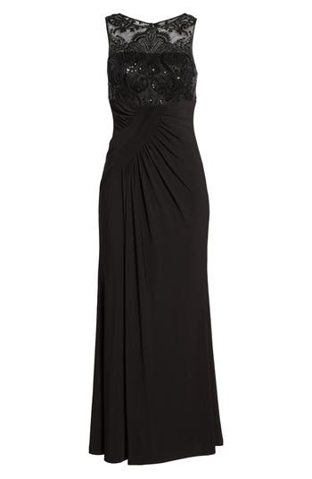 Eliza J Draped Sleeveless Gown