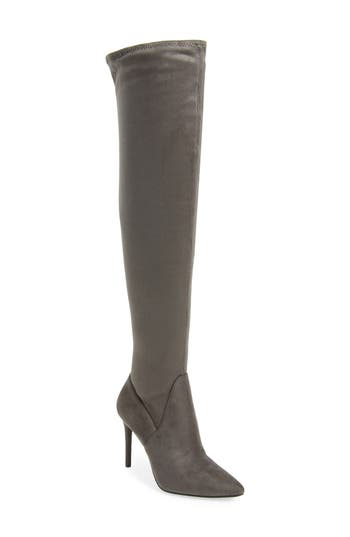 Jessica Simpson Loring Stretch Over The Knee Boot- Grey