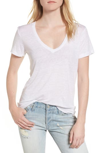 Rails Cara V-Neck Tee, White