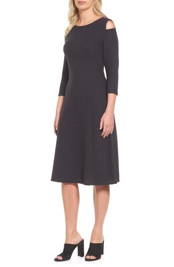 Nic+Zoe Side Street Midi Dress, Grey