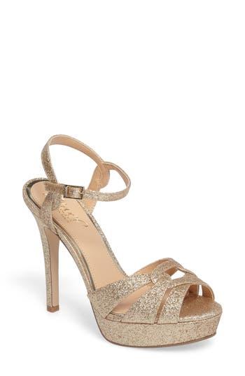 Jewel Badgley Mischka Alysa Platform Sandal- Metallic