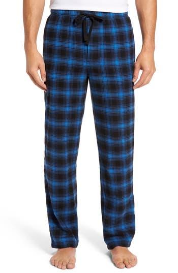 Men's Nordstrom Men's Shop Flannel Lounge Pants, Size Small - Black