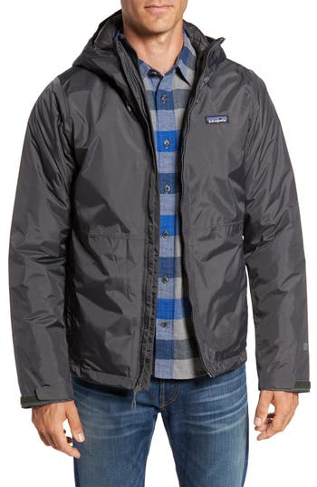 Patagonia Torrentshell H2No Packable Insulated Rain Jacket, Grey