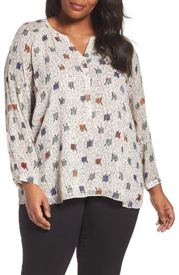 Plus Size Women's Nic+Zoe Morning Commute Long Sleeve Blouse