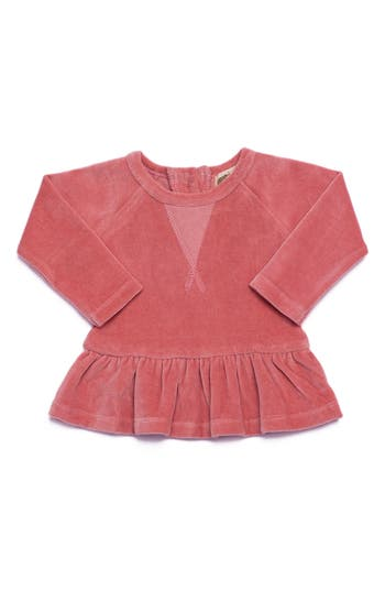 Infant Girls Monica  Andy Organic Cotton Peplum Sweatshirt