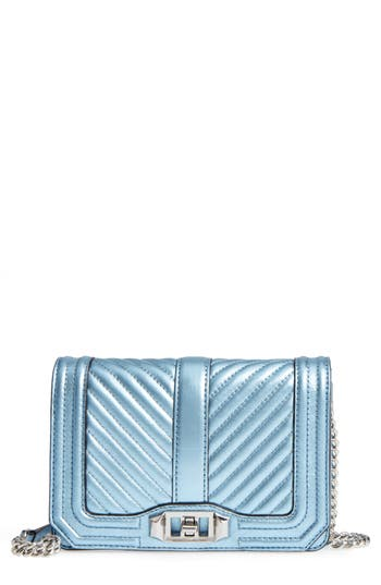 Rebecca Minkoff Small Love Leather Crossbody Bag - Metallic