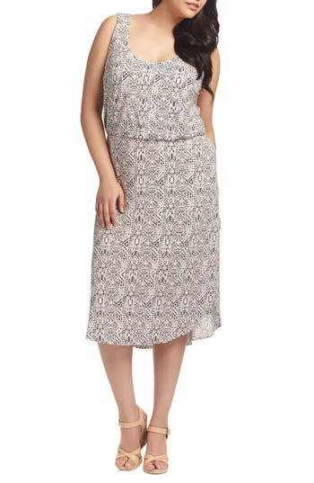 Plus Size Tart Soraya Print Jersey Midi Dress, Pink