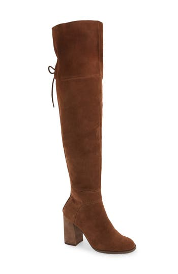Steve Madden Novela Cuffable Over The Knee Boot- Brown