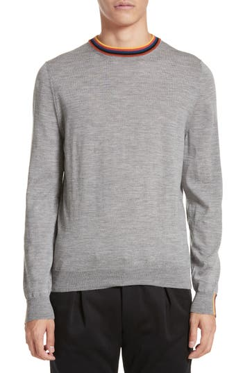 Paul Smith Artist Stripe Merino Wool Sweater, Grey