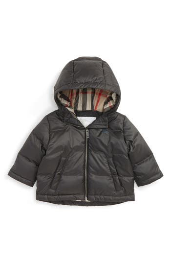 Infant Boy's Burberry Rio Hooded Down Puffer Jacket