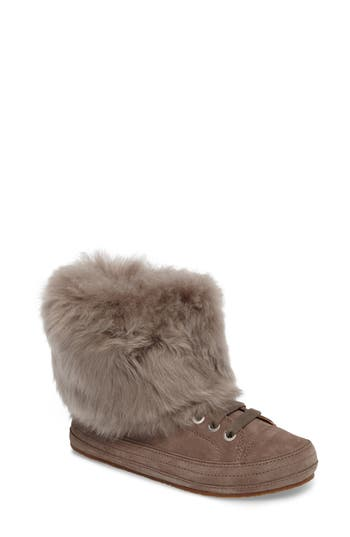 Ugg Antoine Fur Cuff Sneaker, Grey