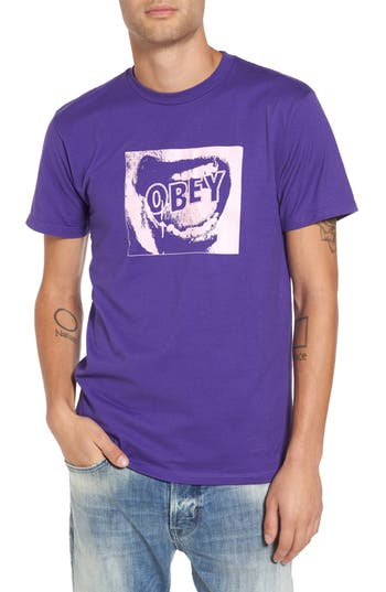 Obey Screamer Graphic T-Shirt, Purple