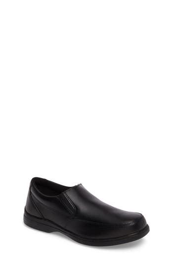Boys Hush Puppies Shane SlipOn Dress Shoe Size 4 W  Black