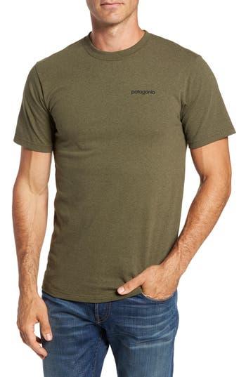 Patagonia Line Regular Fit Logo T-Shirt, Green