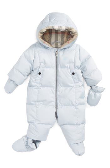 Infant Boys Burberry Skylar Quilted Down Snowsuit