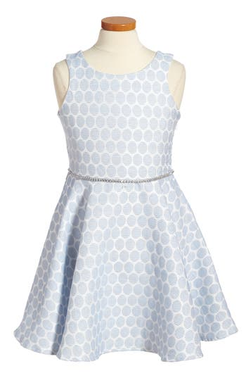 Girl's Pippa & Julie Monique Fit & Flare Dress