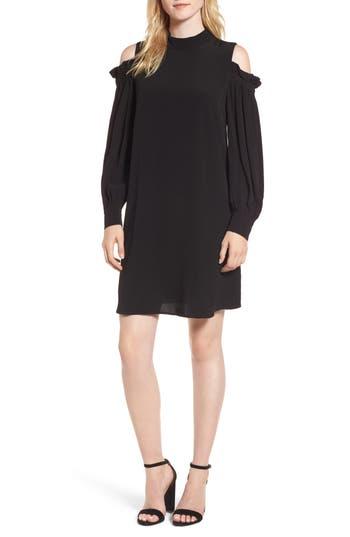 Chelsea28 Cold Shoulder Shift Dress, Black