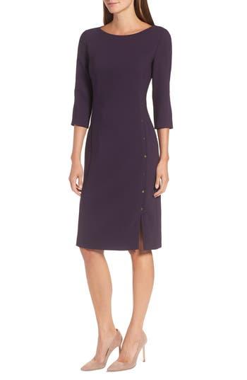 Boss Dikena Wool Sheath Dress, Purple