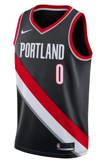Nike Portland Trail Blazers Icon Edition Swingman Nba Jersey, Black