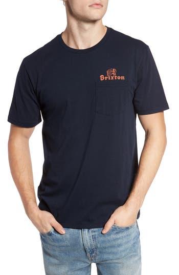 Brixton Tanka Ii Pocket T-Shirt, Blue