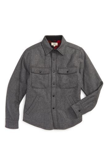 Boys Z.a.k. Brand Flannel Shirt Jacket Size 4  Grey