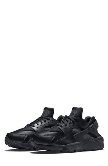 Nike Air Huarache Run Sneaker, Black