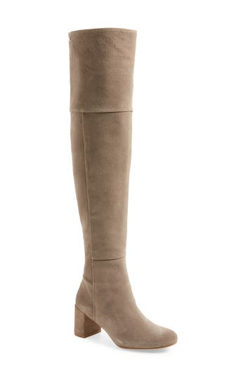 Taryn Rose Catherine Over The Knee Boot, Grey