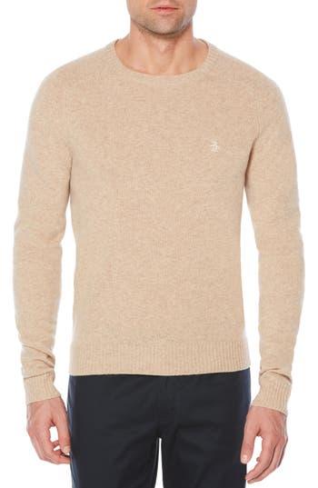 Original Penguin P55 Lambswool Sweater, Beige