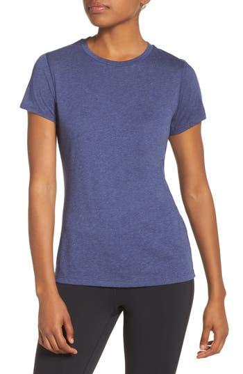 Women's New Balance Heather Tech Tee, Size X-Small - Blue